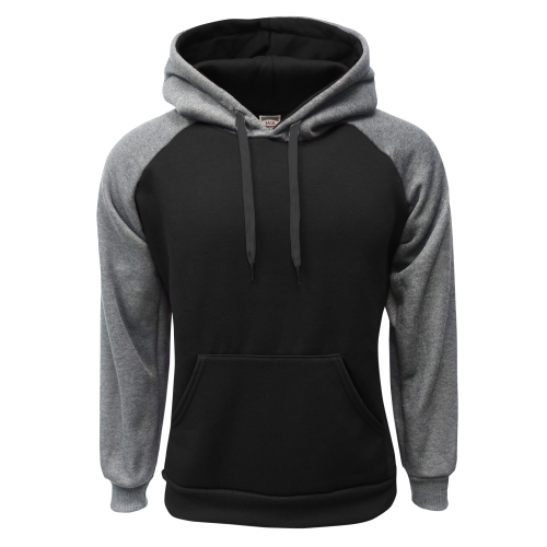 2-Tone Pullover Black-C.Gray