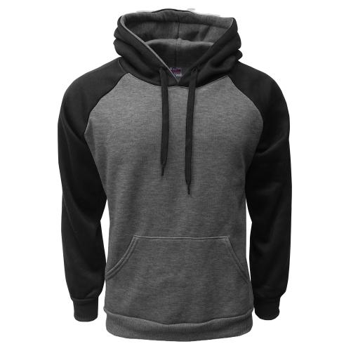 2-Tone Pullover C.Gray-Black