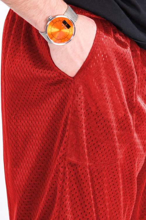 Mesh Shorts Accent Red
