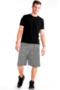 Mesh Shorts Front Heather Gray