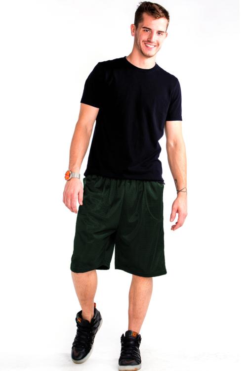Mesh Shorts Front Hunter Green