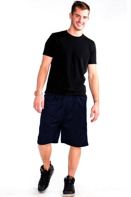 Mesh Shorts Front Navy