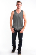 Mesh Top Front Charcoal Gray