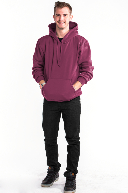 Pullover Hoodie Front Burgandy