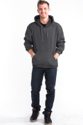 Pullover Hoodie Front Charcoal Gray