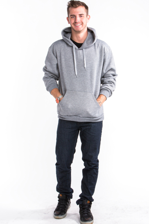 Pullover Hoodie Front Heather Gray