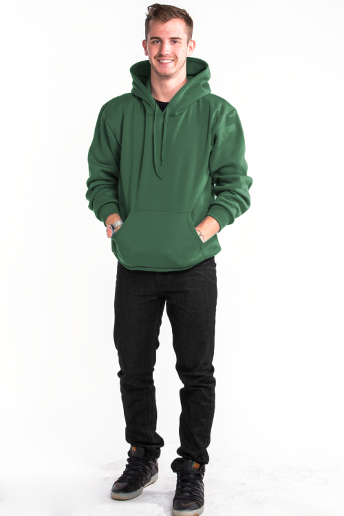 Pullover Hoodie Front Hunter Green