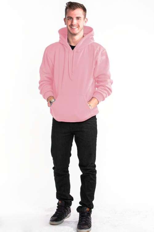 Pullover Hoodie Front Light Pink