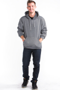 Pullover Hoodie Front Medium Gray