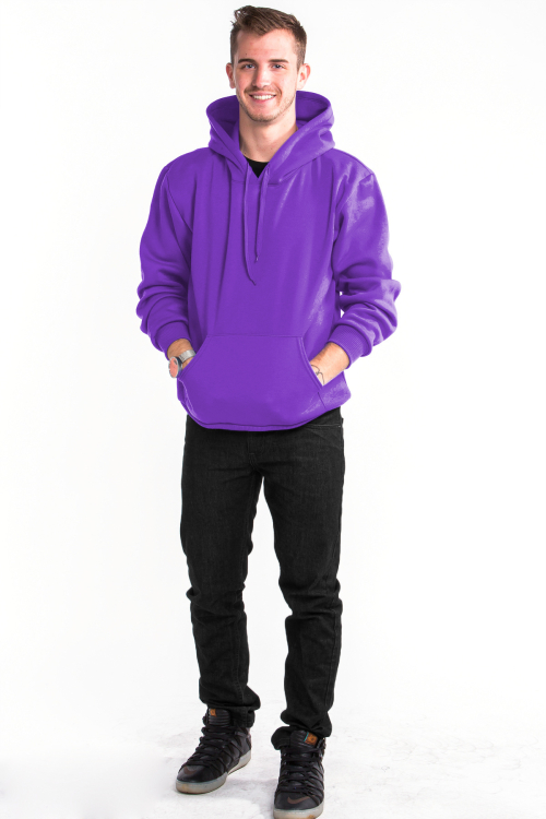 Pullover Hoodie Front Purple
