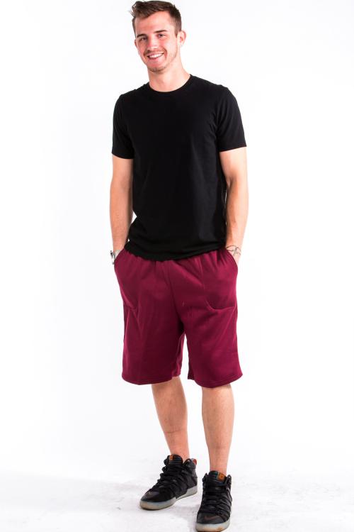 Sweat Shorts Front Burgandy