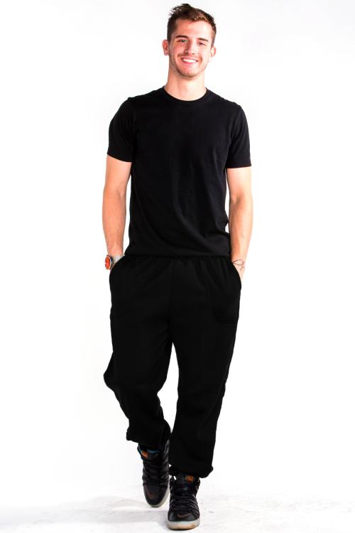 Sweatpants Front Black