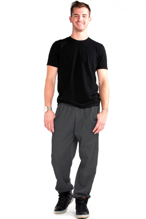 Sweatpants Front Charcoal Gray