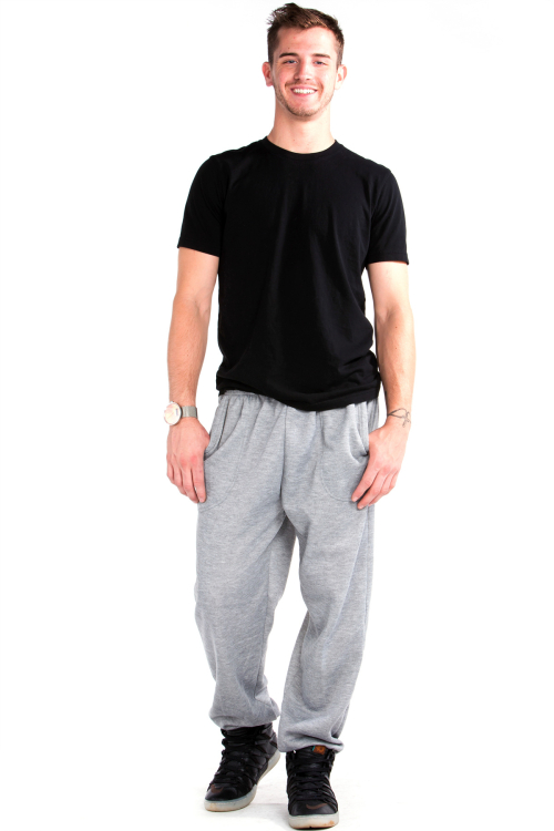 Sweatpants Front Heather Gray