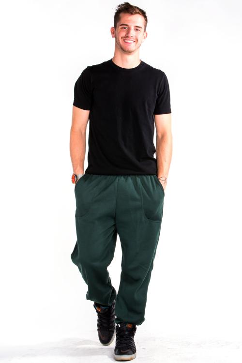 Sweatpants Front Hunter Green