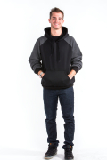 Two Tone Hoodie Front Charcoal Arm