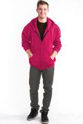 Zipper Hoodie Front Pink
