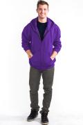 Zipper Hoodie Front Purple