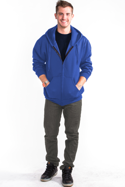 Zipper Hoodie Front Royal Blue