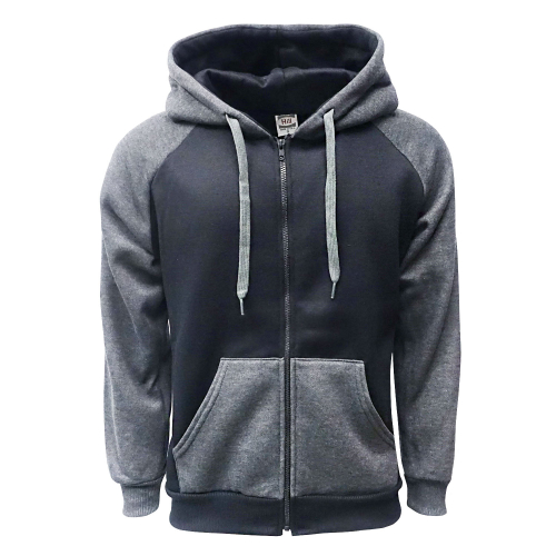 2-Tone Zipper Black-C.Gray