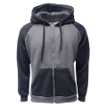 2-Tone Zipper C.Gray-Black