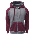 2-Tone Zipper C.Gray-Burgundy