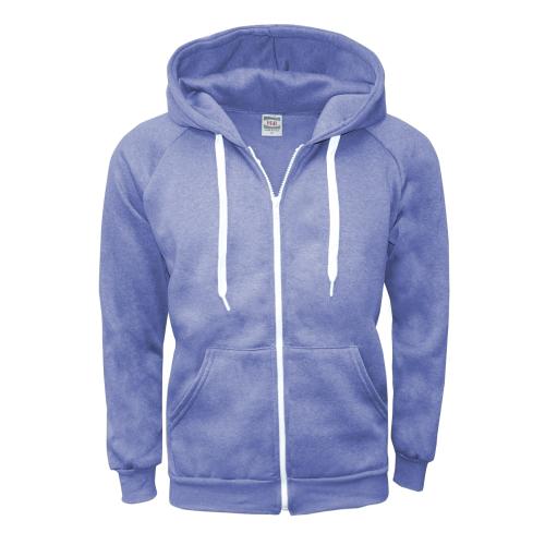 m zipper hoodie blue