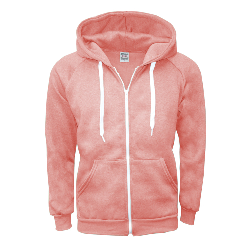 m zipper hoodie salmon