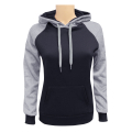 Women's 2-Tone Pullover Black H.Grey