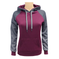 Women's 2-Tone Pullover Burgundy C.Grey