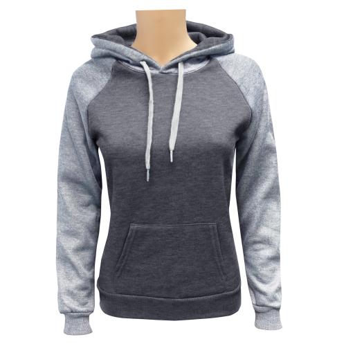 Women's 2-Tone Pullover C.Grey M.Grey
