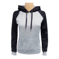 Women's 2-Tone Pullover M.Grey Black