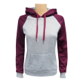 Women's 2-Tone Pullover M.Grey Burgundy