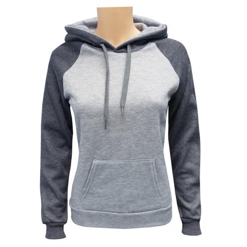 Women's 2-Tone Pullover M.Grey C.Grey