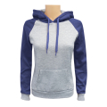 Women's 2-Tone Pullover M.Grey Navy